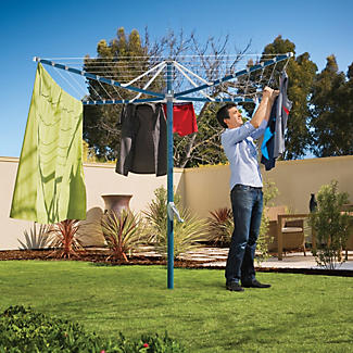 Hills® Rotary 6 Washing Line – Ocean Breeze Blue  alt image 2