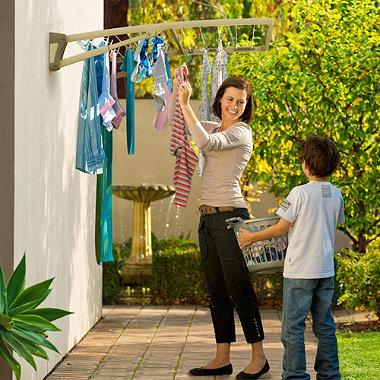 Hills® Supa Fold Duo Washing Line – Beige