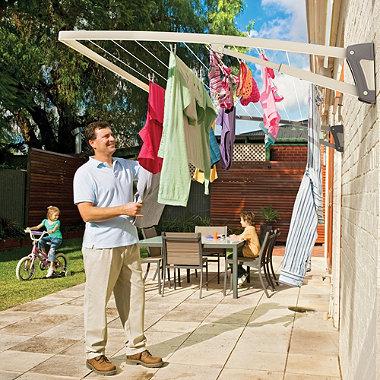 Hills® Supa Fold Mono Washing Line – Beige