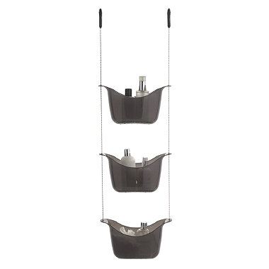 3-Tier Shower Caddy Smoke Grey