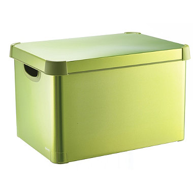 Metallic Green Decorative Storage Box In Storage And