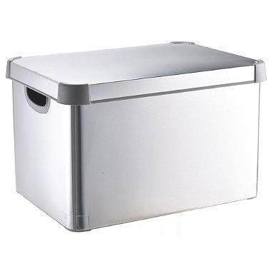 Metallic Silver Decorative Storage Box