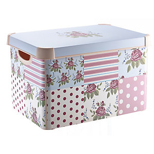 Floral Patchwork Decorative Box