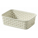 Faux Rattan Storage Tray Small