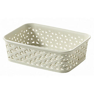 Small Faux Rattan Storage Tray alt image 1