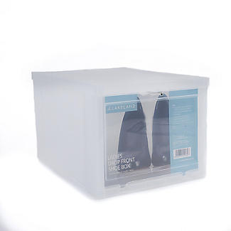 Drop Front Stackable Clear Plastic Shoe Storage Box - Medium alt image 4