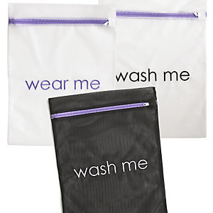 3 Wear Me Wash Me Travel Mesh Net Washing Bags - Various Sizes