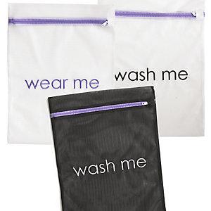 """3 Wäschebeutel Mit Aufdruck """"Wear-Me"""" Und """"Wash-Me"""""""