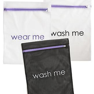 3 Wear Me Wash Me Travel Mesh Net Washing Bags - Various Sizes