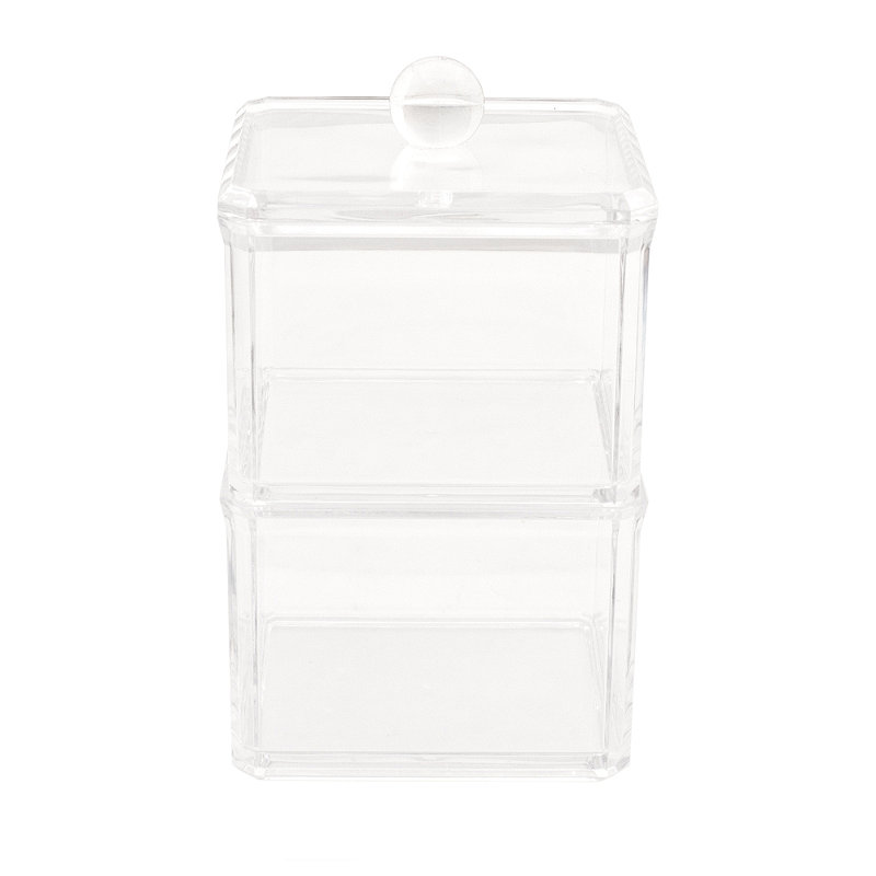 Glam Range Square Stackable Box with Lid