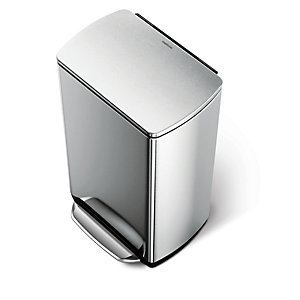 simplehuman 38 Litre Rectangular Wide Step Bin
