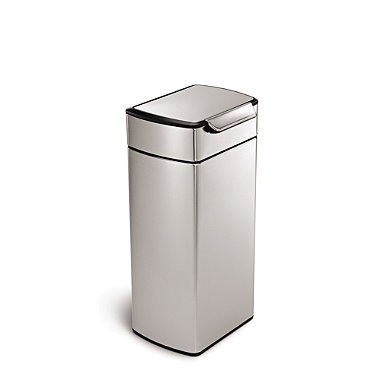 simplehuman Touch Bar Kitchen Waste Bin - Silver 30L