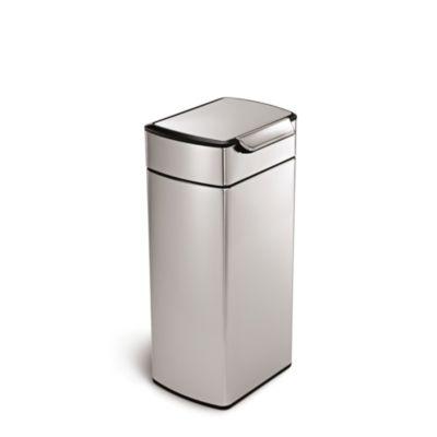 simplehuman Touch Bar Kitchen Waste Bin  Silver 30L