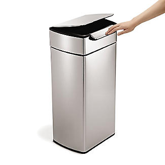 simplehuman Touch Bar Kitchen Waste Bin - Silver 30L alt image 4
