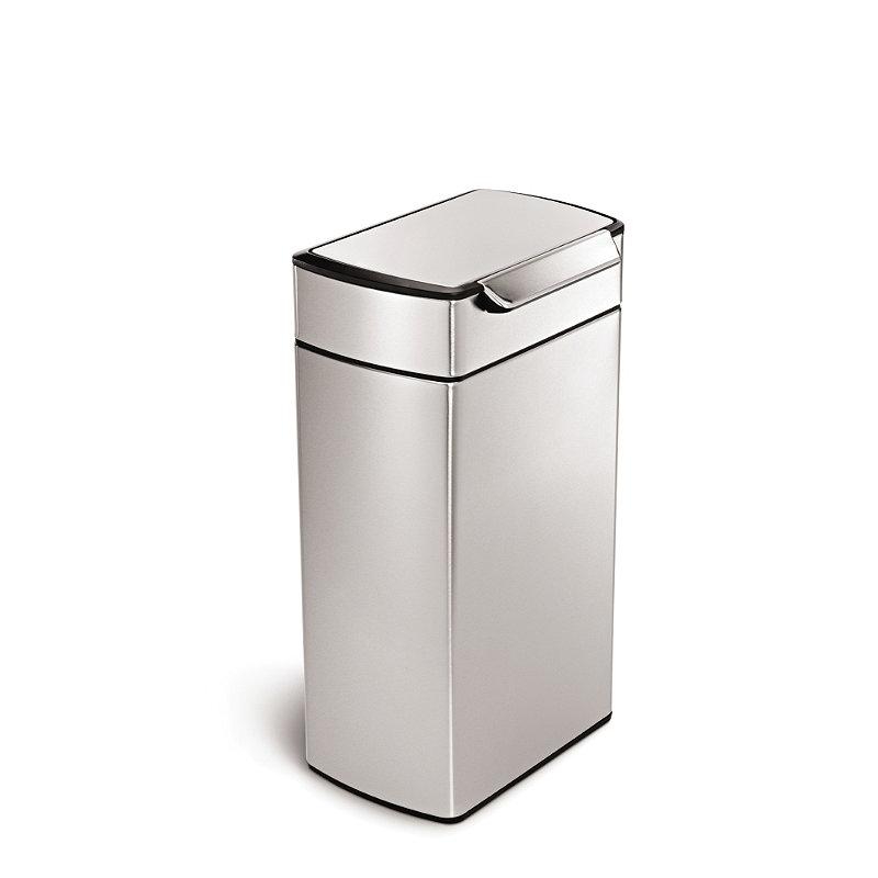 simplehuman Touch Bar Kitchen Waste Bin - Silver