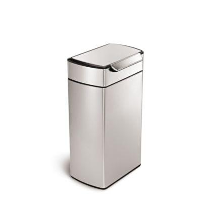 simplehuman Touch Bar Kitchen Waste Bin  Silver 40L