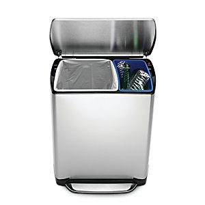 simplehuman 46 Litre Wide Step Rectangular Recycler