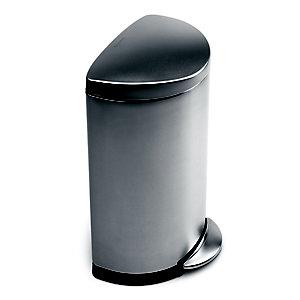 simplehuman Flatback Kitchen Waste Bin - Silver 40L