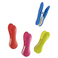 20 Bright Colour Soft Grip Clothes Pegs