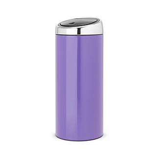 Brabantia® Pansy Purple Touch Bin 30L.