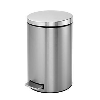 Brabantia® Compact Kitchen Waste Pedal Bin - Matt Silver 12L