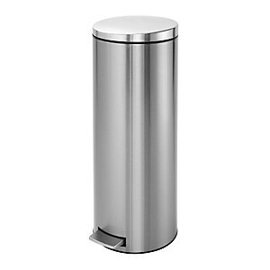Brabantia® Tall Slim Kitchen Waste Pedal Bin - Silver 20L