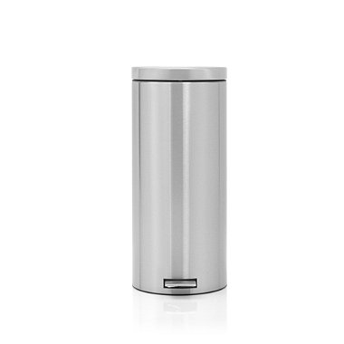 Brabantia® Silent Close Kitchen Waste Pedal Bin - Matt Silver 30L