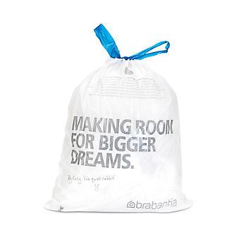 20 Brabantia® Size E Drawstring Bin Liners - White Bags 20L alt image 2