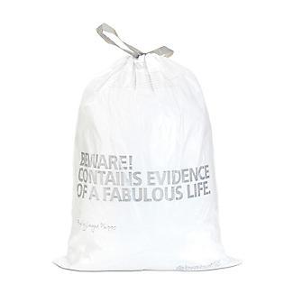 10 Brabantia® Size H Drawstring Bin Liners - White Bags 50-60L alt image 3