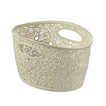 Lace-Effect Storage Tub