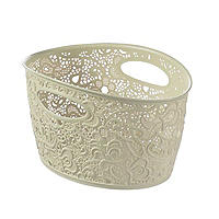 Lace-Effect Storage Tub Cream