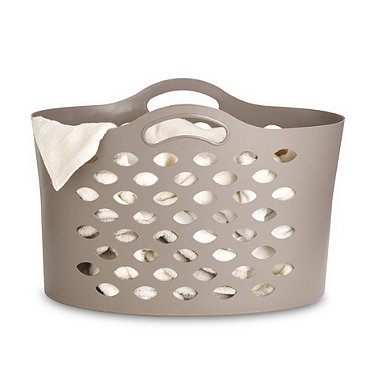 Cappuccino Flexible Laundry Basket