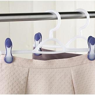 2 White Soft Grip Trouser & Skirt Clothes Hangers alt image 2