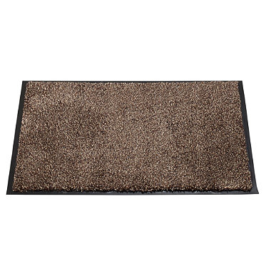 Microfibre Super-Absorbent Indoor Floor & Door Mat Coffee - 60 x 40cm