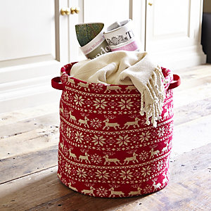Festive Knit Storage Tote