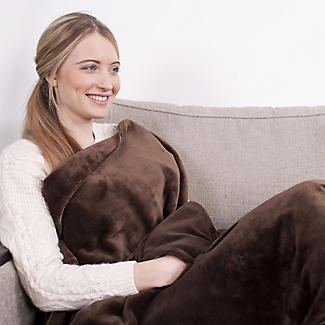 Sofa Snuggler Electric Heated Throw Brown - 70 x 150cm alt image 3