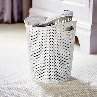 Curver Faux Rattan Waste Paper Basket - Cream 13L alt image 2