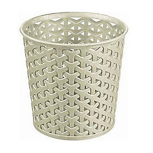 Faux Rattan Storage Pot Small