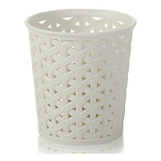 Faux Rattan Storage Pot Medium