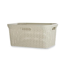 Curver Faux Rattan Washing Basket 45L