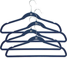 Blue Space Saving Non-Slip Hangers x 4