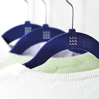 4 Blue Space Saving Non Slip Clothes Hangers alt image 2