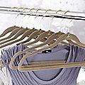 Caramel Space Saving Non-Slip Hangers x 4