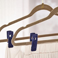 4 Clothes Hanger Clips For Skirts & Trousers