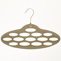 Caramel Space Saving Non Slip Scarf Accessory Hanger