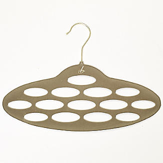 Caramel Space Saving Non Slip Scarf Accessory Hanger alt image 1