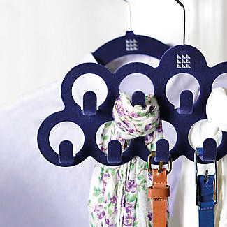 Blue Space Saving Non Slip Scarf Accessory Hanger alt image 2