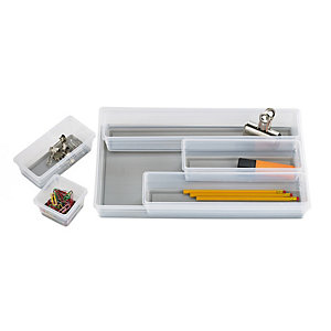 6 Piece Drawer Organiser Set Grey