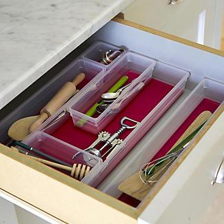 6 Piece Drawer Organiser Set Cherry