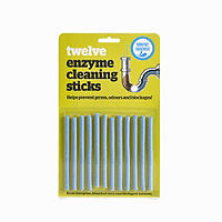 12 Drain Maintain Enzyme Cleaning Plughole Sticks